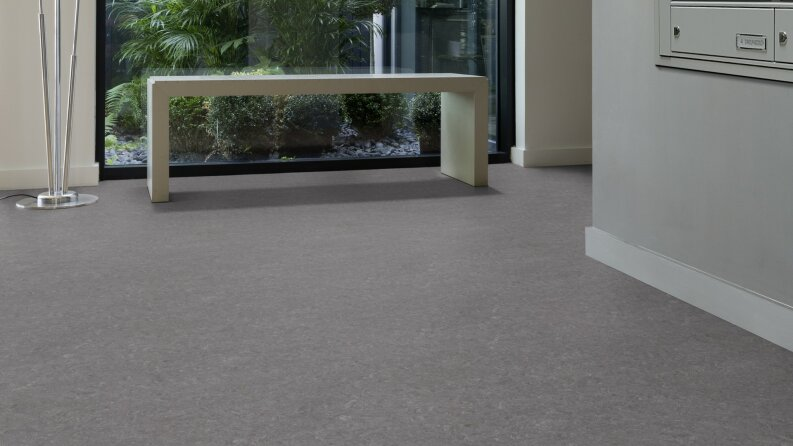 DLW Marmorette Linoleum - quartz grey 3,2 mm