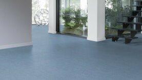 DLW Marmorette Linoleum - dusty blue 3,2 mm