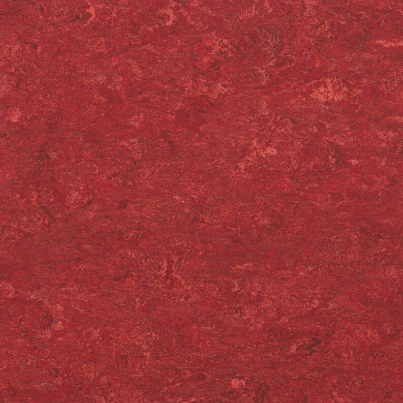 DLW Marmorette Linoleum - lobster red