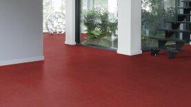DLW Marmorette Linoleum - lobster red
