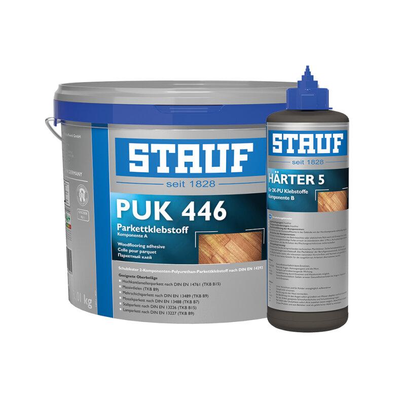 STAUF PUK 446 2K-PU Parkettklebstoff + Härter Nr. 5 - 8,9 kg