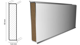 Project Floors Sockelleiste MDF 1,26 x 6,0 x 240 cm - 1006
