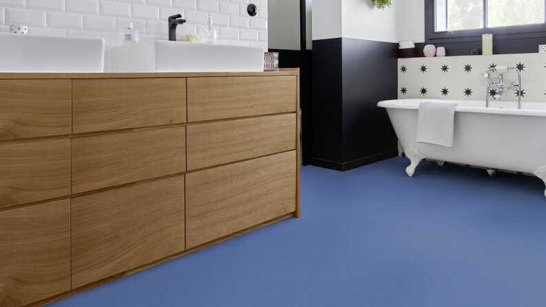 DLW Colorette Acoustic Plus Linoleum - bluebird