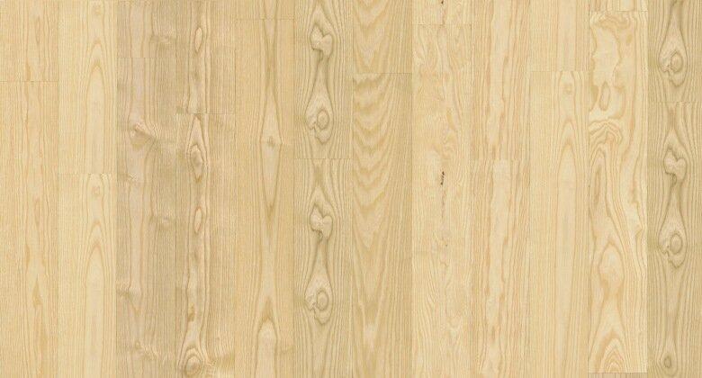 Landhausdiele massiv Esche - Eleganz roh 15 x 130 x 400 - 2000 mm