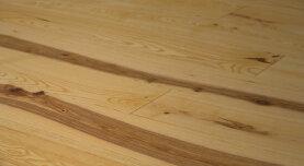 Landhausdiele massiv Esche - Natur gebürstet & geölt 15 x 130 x 400 - 2000 mm