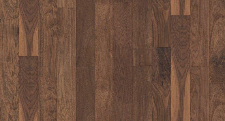 Landhausdiele massiv Nussbaum amerikanisch - Eleganz / Natur roh 15 x 140 x 500 - 2200 mm