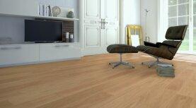 Landhausdiele massiv Eiche - Eleganz 5% weiß geölt 15 x 150 x 400 - 1800 mm
