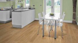 Landhausdiele massiv Eiche - Eleganz 5% weiß geölt 20 x 120 x 500 - 2000 mm