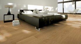 Landhausdiele massiv Eiche - Eleganz geölt 15 x 130 x 400 - 1800 mm