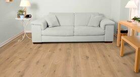 Landhausdiele massiv Eiche - Markant 5% weiß geölt 15 x 150 x 400 - 1800 mm