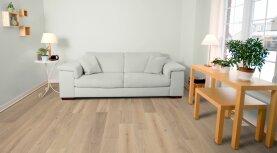 Landhausdiele massiv Eiche - Natur 15% weiß geölt 20 x 160 x 500 - 2000 mm