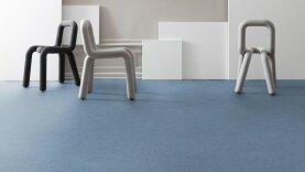 DLW Marmorette Linoleum - dusty blue