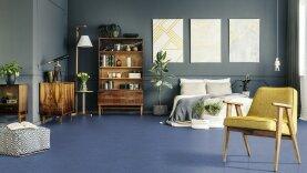 DLW Marmorette Linoleum - royal blue