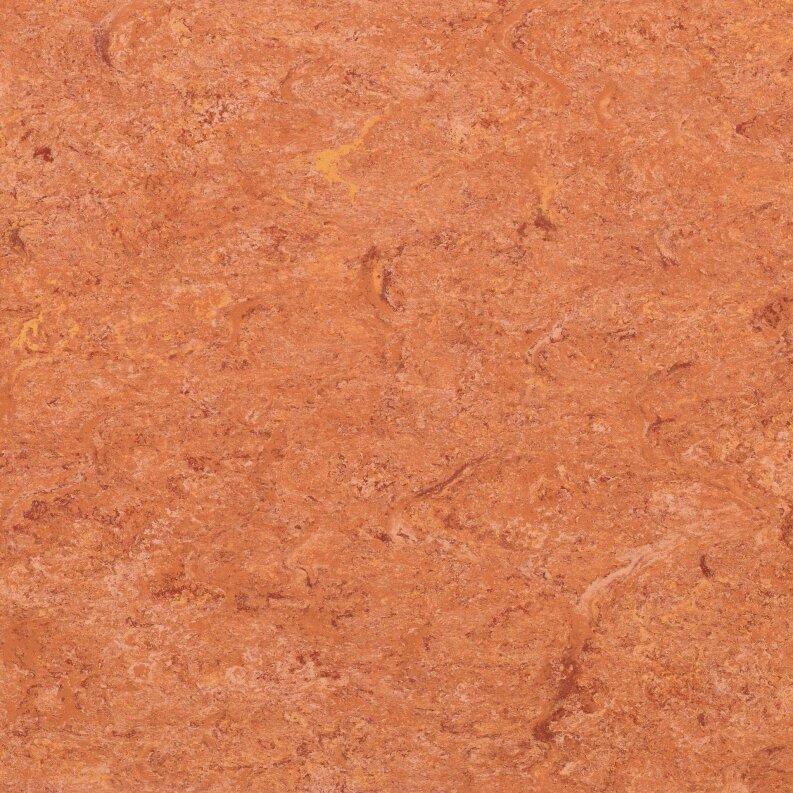 DLW Marmorette Linoleum - sunset orange